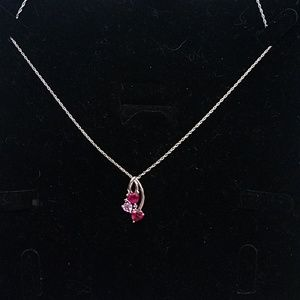 Simulated Sapphire necklace